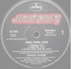 """Picture of 100% pure love - Waters Crystal - 12"""" Maxisingle"""